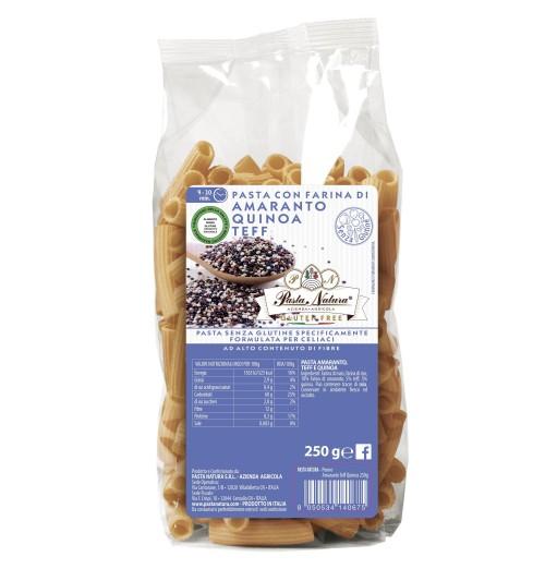 pasta mutuabile amaranto teff e quinoa